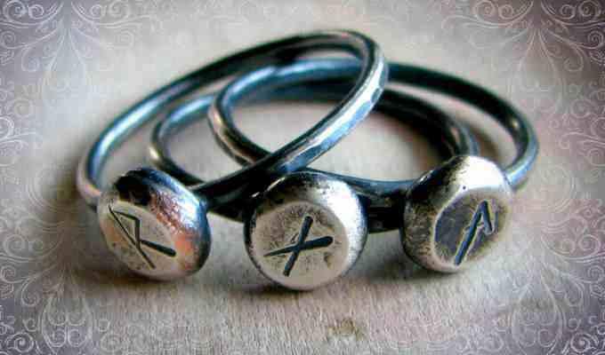 Кольца с изображением рунных знаков