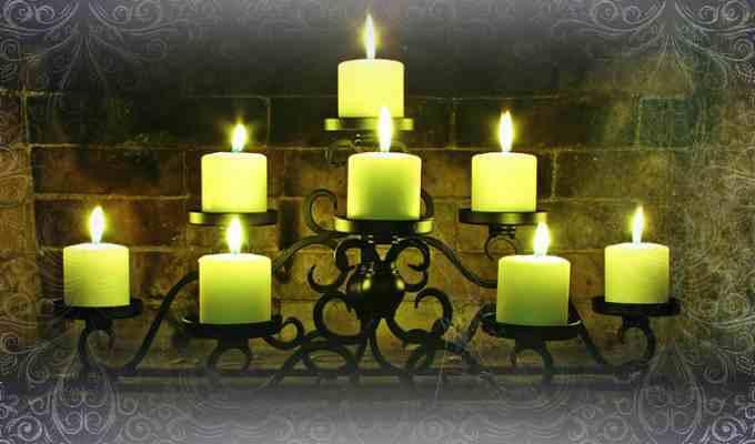 8 свечек зеленого цвета для ритуала