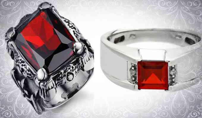 Мужские кольца с рубином