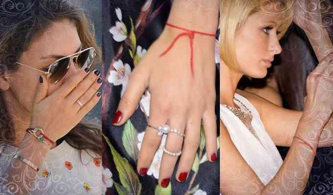 Фото: Зачем знаменитости носят красный оберег на руке?