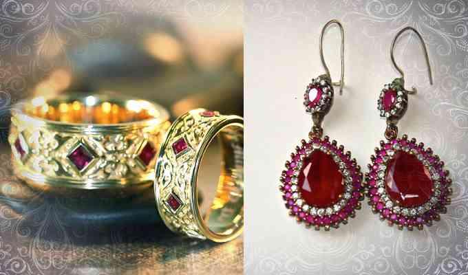 Кольцо и серьги с рубином, в качестве талисмана