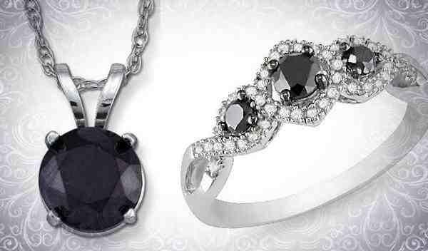 Черный алмаз: кольцо и кулон