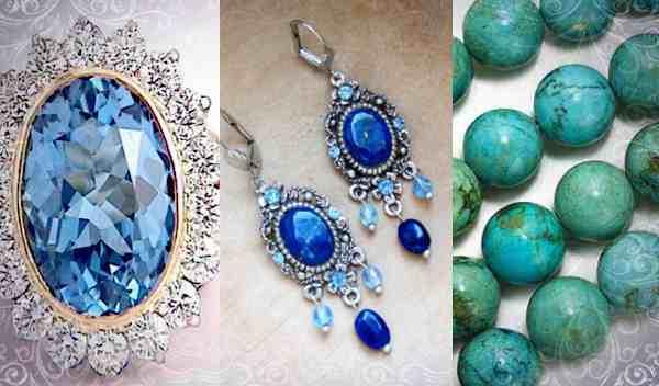 Камни: голубой топаз, лазурит, бирюза идеальны для Водолеев