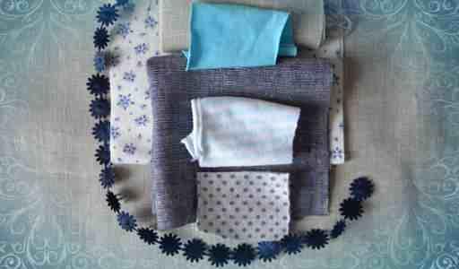 Подготовим лоскутки ткани
