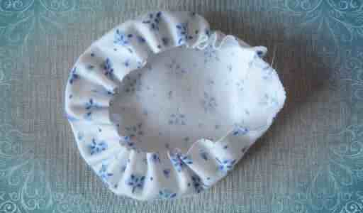 Стягиваем круг из ткани (шаг3)
