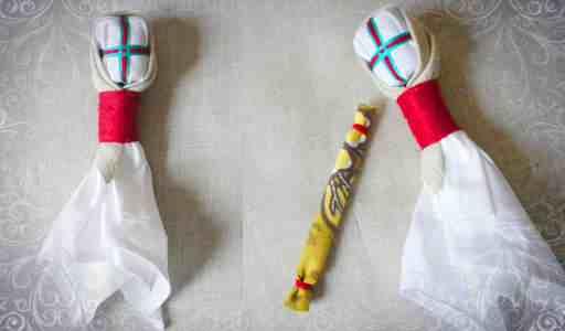 Делаем ручки из лоскутка ткани