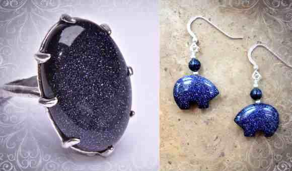 Перстень и сережки с синим самоцветом для авантюристов