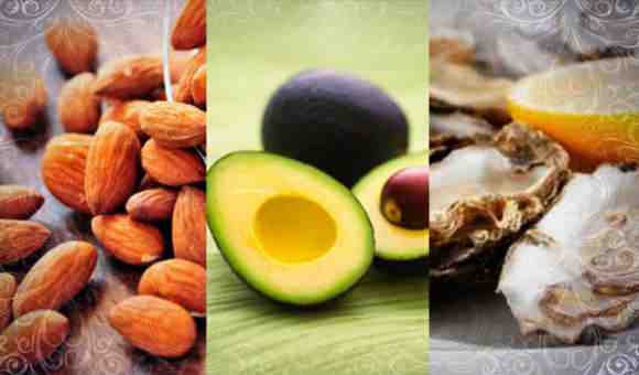Орехи, авокадо, устрицы