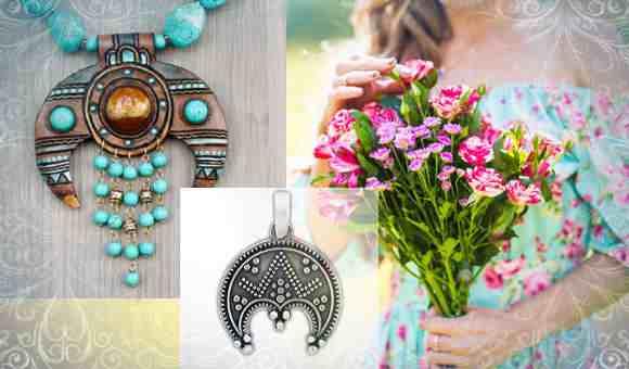 Современные украшения с символом - оберегом Лунницы