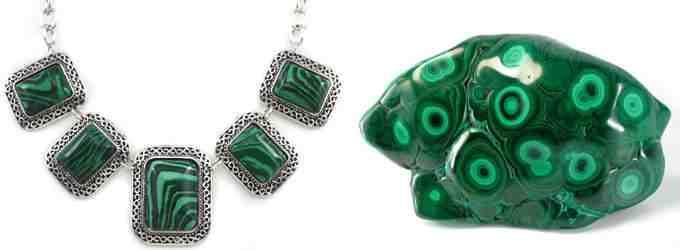 На фото: Малахитовое ожерелье