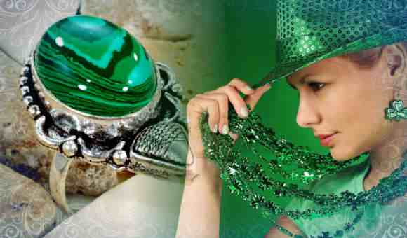 Стильная дама в зеленом