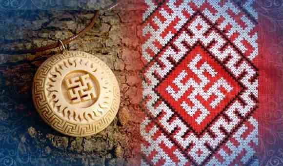 Кулон и вышивка с изображением цветка папаротника