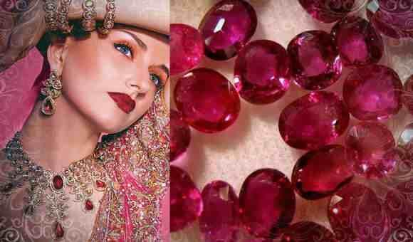 Россыпь рубиновых кристаллов (фото)