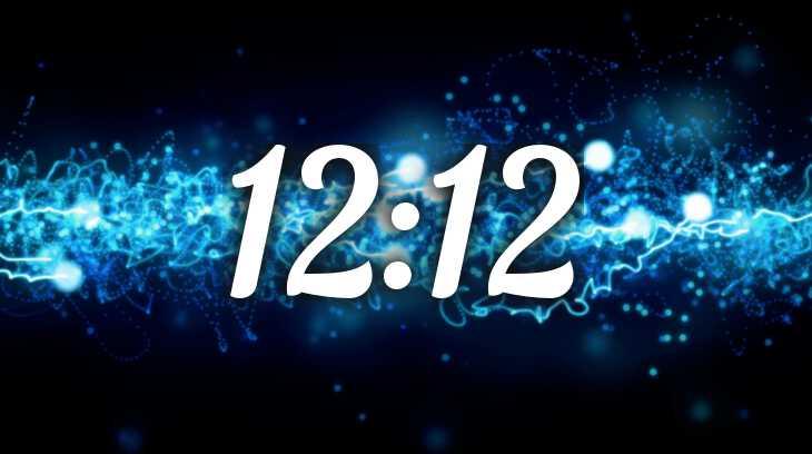 время на часах 12:12