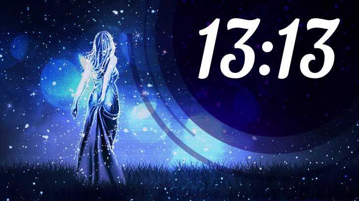 цифры 13-13 на часах