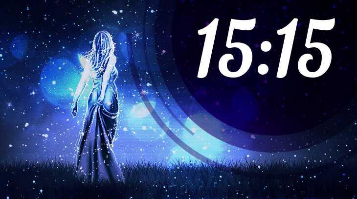 время на часах 15:15