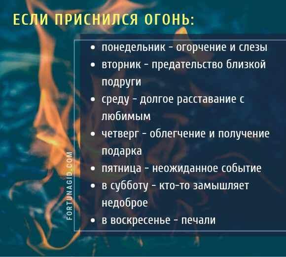 пожар во сне