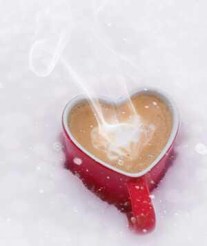 романтичное кофе